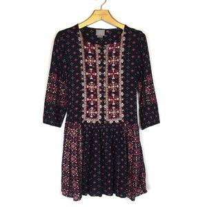 VANESSA VIRGINIA Kaleidoscope Boho Shirt Dress XS